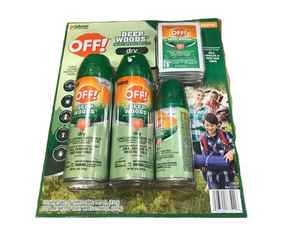 Off! Off! Deep Woods Dry Insect Repellent - Bug Spray 3 Pack & Towelettes