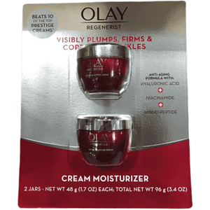 OLAY Regenerist Micro-Sculpting Cream, 2 Jars of 1.7 OZ (Total 3.4 OZ) - ShelHealth.Com