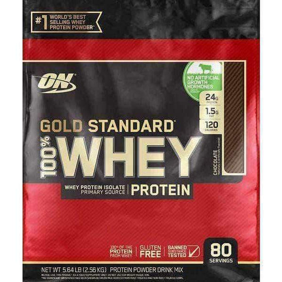 Optimum Nutrition Gold Standard 100% Whey Protein, 80 Servings, Chocolate - ShelHealth.Com