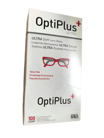 OptiPlus OptiPlus Ultra Soft Lens Wipes, 100 Count