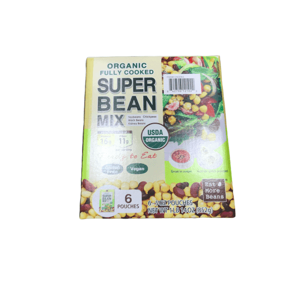 Super Bean Organic Fully Cooked Super Bean Mix (6-5 oz Pouch)
