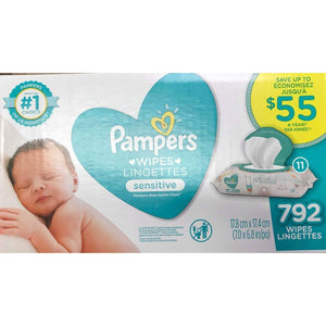 Pampers Pampers Baby Wipes Sensitive, 792 ct.