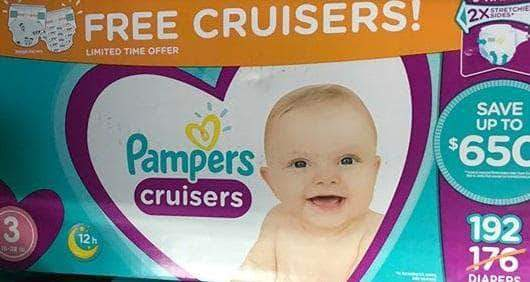 Pampers Pampers Cruisers Disposable Baby Diapers, Diapers Size 3, 176 Count