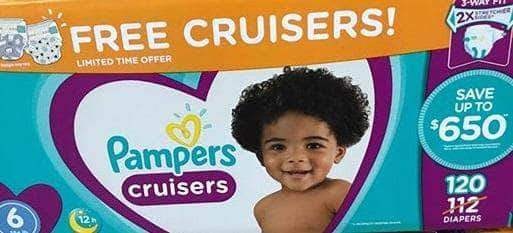 Pampers Cruisers Disposable Baby Diapers, Diapers Size 6, 112 Count - ShelHealth.Com