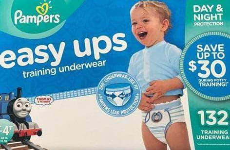 Pampers Pampers Easy Ups Pull On Disposable Potty Training Underwear for Boys, Size 4T-5T, 116 Count