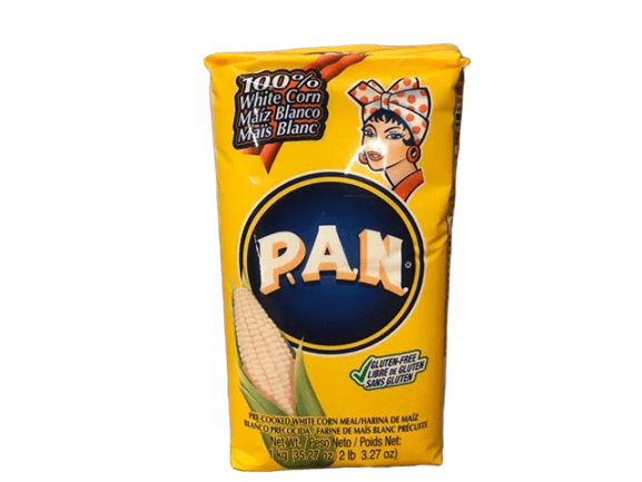 PAN PAN Corn Meal, White, Pre-Cooked, 1 kg