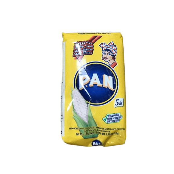 PAN PAN White Corn Meal – Pre-cooked Gluten Free and Kosher Flour for Arepas, 5 lb