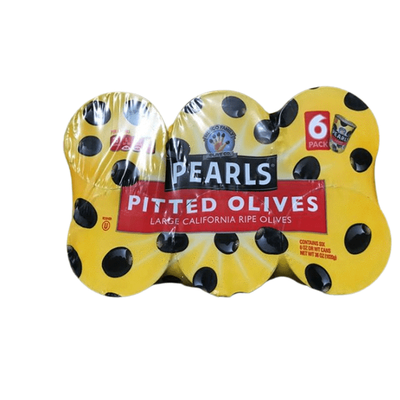 Pearls Pearls Pitted California Ripe Olives Large 6 oz (Pack of 6)