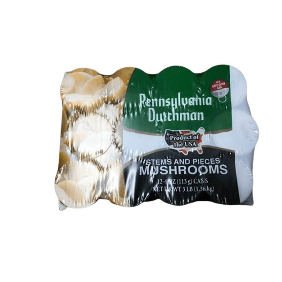 Pennsylvania Dutchman Pennsylvania Dutchman Canned Mushrooms - 12/4 oz. cans
