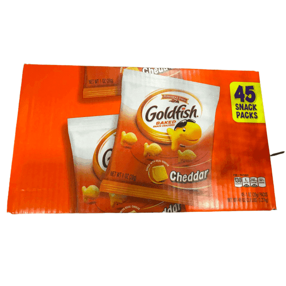 Pepperidge Farm Pepperidge Farm Goldfish Crackers, Cheddar, 1 oz Bag, 45/Carton