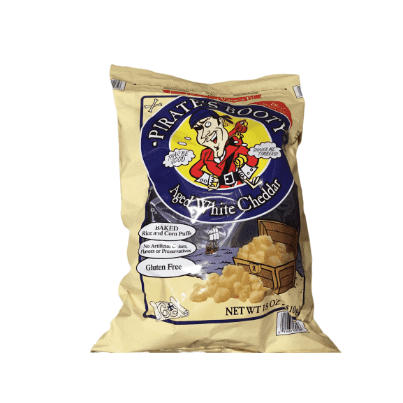 Pirate's Booty Aged White Cheddar 18 Oz - ShelHealth.Com