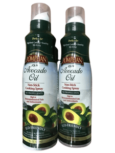 Pompeian 100% Avocado Oil Cooking Spray, 2 x 7 oz. - ShelHealth.Com