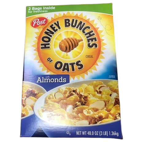 Post Honey Bunches of Oats w/Almonds - 48oz - ShelHealth.Com