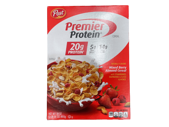 Premier Protein Premier Protein Mixed Berry Almond Cereal, 30 oz.
