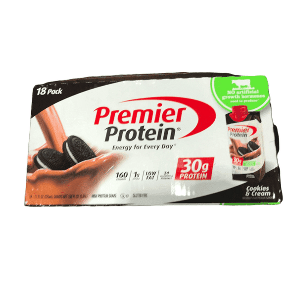 Premier Protein Premier Protein Ready to Drink Shake, Cookies & Cream, 18Pack/11Fl Oz.