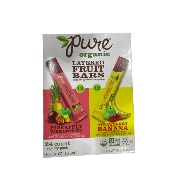 Pure Organic Layer Fruit Bar, 24 Count, 15.2 Ounce - ShelHealth.Com