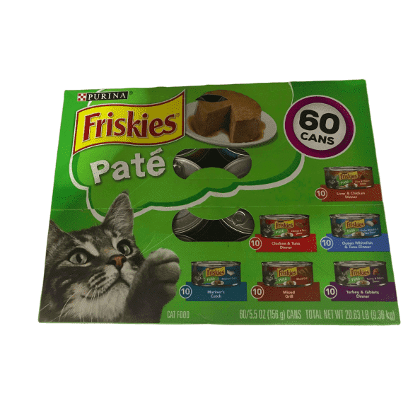 Purina Purina Friskies Classic Pate, Variety Pack (5.5 oz, 60 Count.)