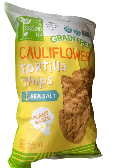 Real Food From The Ground Up Cauliflower Tortilla Chips, 10 oz - ShelHealth.Com