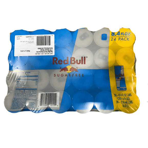 Red Bull Energy Drink Sugar Free 24 Pack of 8.4 Fl Oz, Sugarfree - ShelHealth.Com