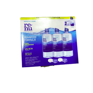 Renu ReNu - Lens Solution, Advanced Triple Disinfect Formula, Multi-Purpose 16 Fluid Ounce (Pack of 3)