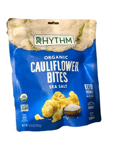 Rhythm SuperFoods Organic Cauliflower Bites, Sea Salt, 5.75 oz