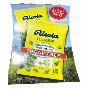 Ricola Ricola Herbal Throat Drops Lemon Mint Sugar Free - 210 Drops