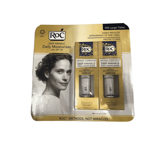 Roc RoC Retinol Correxion Deep Wrinkle Anti-Aging Retinol Daily Moisturizer, Oil-Free and Non-Comedogenic, 2.2 oz