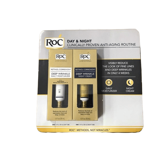 Roc Roc Retinol Correxion Deep Wrinkle Treatment Daily Moisturizer With Sunscreen Broad Spectrum spf 30, 2 pk./1 oz.