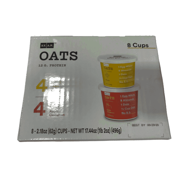 RX Oats RX Oats Maple & Apple Cinnamon, 4 each, 8 Cups Total