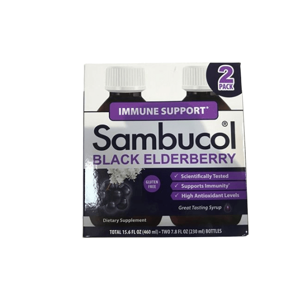Sambucol Sambucol Black Elderberry Syrup Original Formula, 7.8 Ounce Bottle (Pack of 2)
