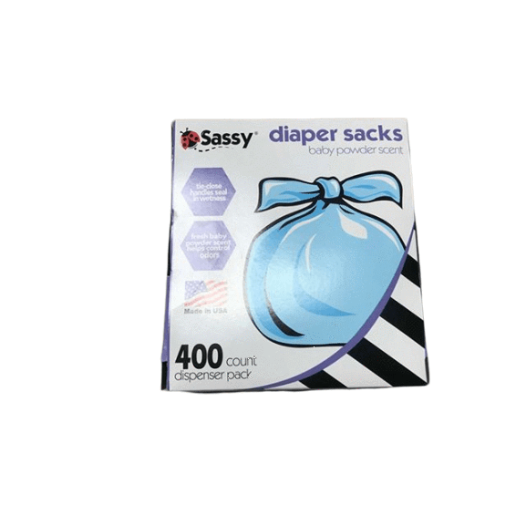 Sassy Sassy Baby Disposable Diaper Sacks, 400 Count