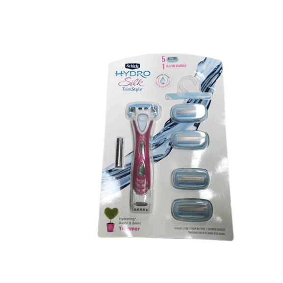 Schick Hydro Silk Trimstyle Razor and  Refills, 5 ct. - ShelHealth.Com
