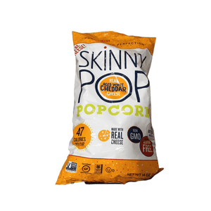 Skinnypop Skinny Pop Real Aged White Cheddar Cheese Pop Corn, 14 Ounce