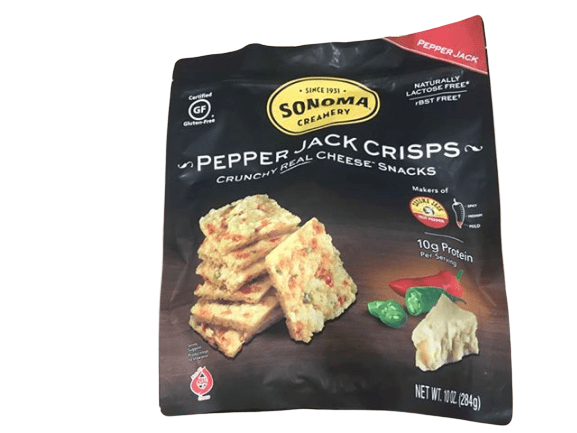 Sonoma Sonoma Creamery Cheese Crisps - Pepper Jack Savory Cheese Cracker Snack, 10 Ounce
