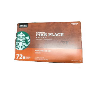Starbucks Pike Place Roast Coffee K-Cup Portion Packs for Keurig Brewers, 72 Count - ShelHealth.Com