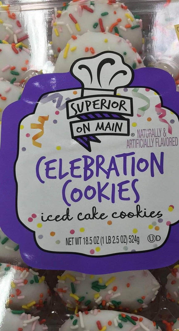 Superior Superior On Main Celebration Iced Cake Cookies, 18.5 oz.