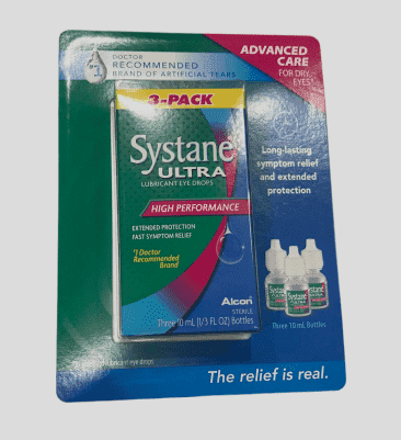 Systane Ultra Lubricant Eye Drops .33 fl oz (10 mL Bottle) (3 Bottles Total) - ShelHealth.Com