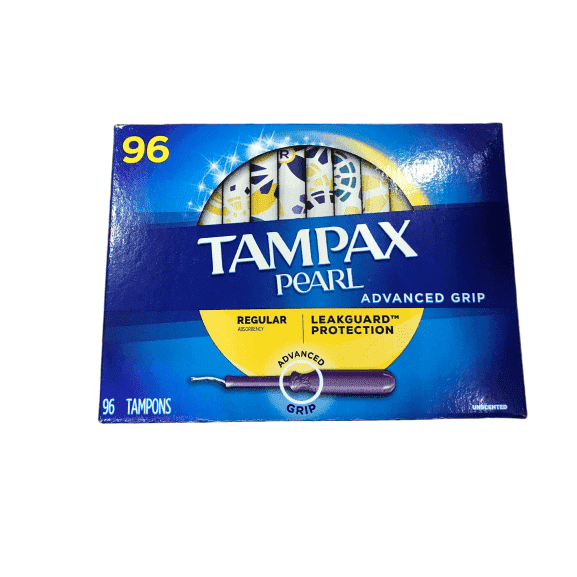 Tampax Tampax Pearl Advanced Grip Regular Absorbency (96 Count)