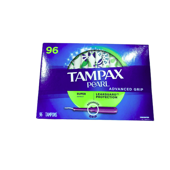 Tampax Tampax Pearl Advanced Grip Super Absorbency (96 Count)