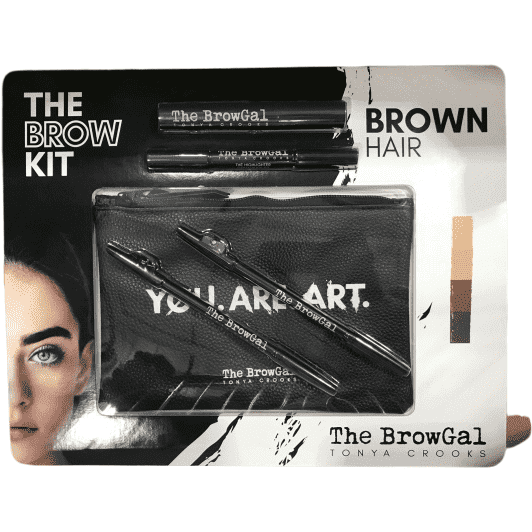 The BrowGal The Brow Gal Tonya Crooks Eyebrow Makeup Styling Starter Kit - Brown Hair