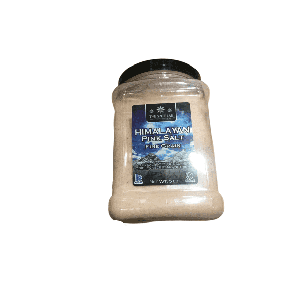 The Spice Lab Pink Himalayan Salt - Super Fine 5 Pound Tub - ShelHealth.Com
