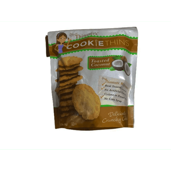 Thinster's Cookiethins Toasted Coconut Cookie, 19 ounces