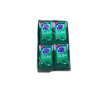 Tic Tac Tic Tac Gum, Sugar Free Chewing Gum, Spearmint, 12 Count