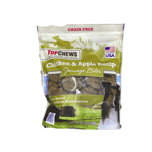 Top Chews Top Chews Chicken & Apple Sausages, 40 ounces