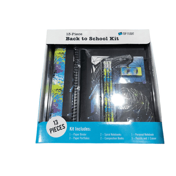 Top Flight 13-Piece Back to School Kit - Blue - ShelHealth.Com