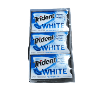 Trident Trident Dual Pack Gum, White Peppermint, 16 Pieces, 12 Count