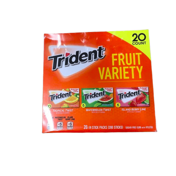 Trident Fruit Variety Pack (14 ct., 20 pks.) - ShelHealth.Com