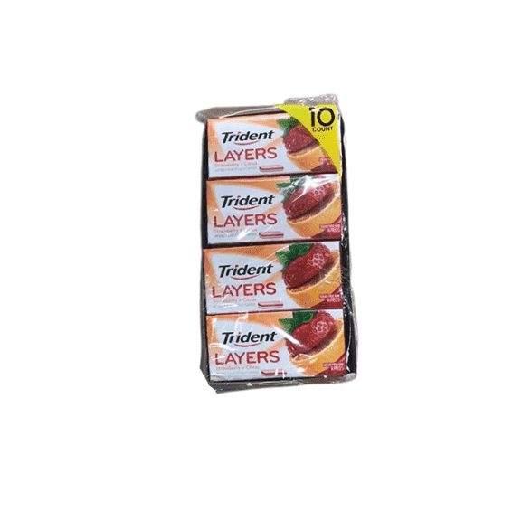 Trident Layers Strawberry and Tangy Citrus (14 ct, 10 packs.) - ShelHealth.Com
