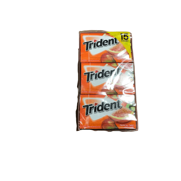Trident Trident Sugar Free Gum, Tropical Twist, 14 Pieces, 15 Packs