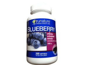 trunature trunature Blueberry Extract 1000 mg, 200 Softgels
